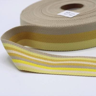 Polyester belt beige and off-white