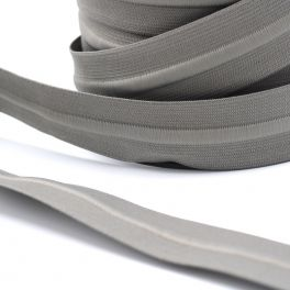 Ceinture élastique avec cordon gris
