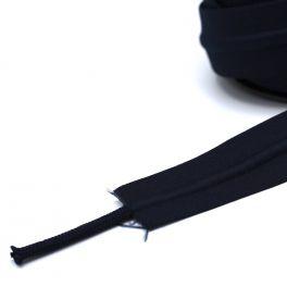 Zilveren elastische riem met zwarte streep