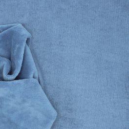 Tissu éponge bambou polyester et coton bleu