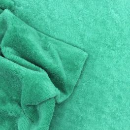 Terry bamboo fabric - green