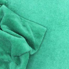 Tissu éponge bambou polyester et coton vert