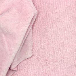 Tissu éponge bambou polyester et coton rose