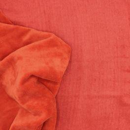 Tissu éponge bambou polyester et coton orange