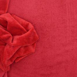 Tissu éponge bambou polyester et coton rouge