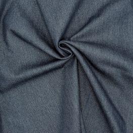 Tissu  jeans bleu foncé avec fil Lurex
