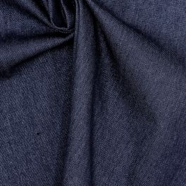 Dark blue plain jeans fabric