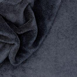 Tissu éponge bambou  noir