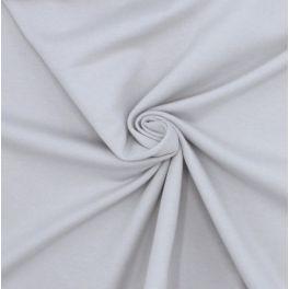 Tissu sweat molletonné gris clair