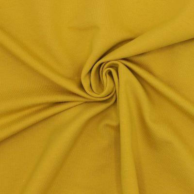 Tissu sweat molletonné moutarde