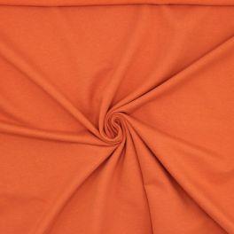 Tissu sweat molletonné orange brûlée