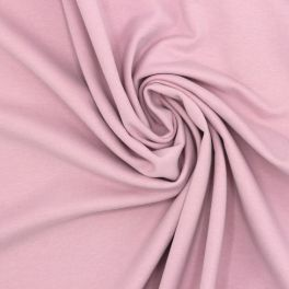 Tissu sweat molletonné vieux rose