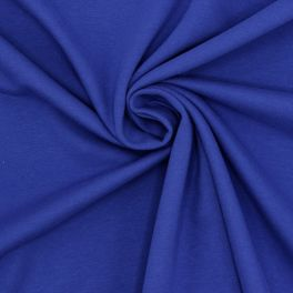 Tissu sweat molletonné bleu