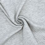 Sweatshirt fabric printed with black beetles on an off-white background