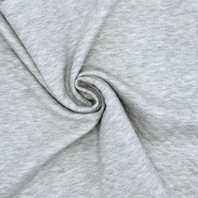 Tissu sweat gris clair