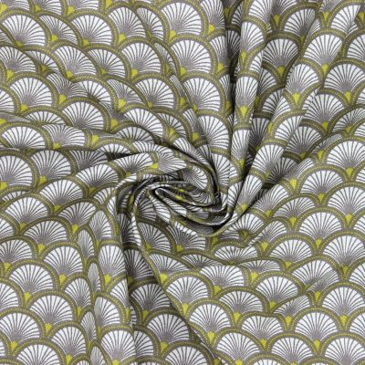Tissu en coton à motif beige