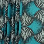 Upholstery fabric with pattern - anthracite background