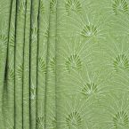 Upholstery fabric with foliage motif - green background