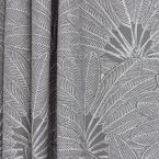 Upholstery fabric with foliage motif - grey background