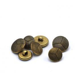 Boutons en métal vieil or