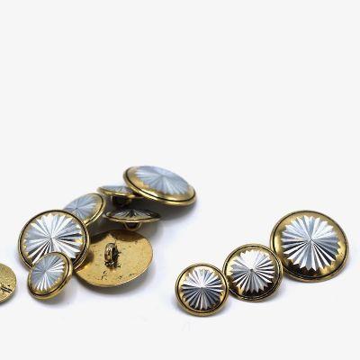 Metal button - silver