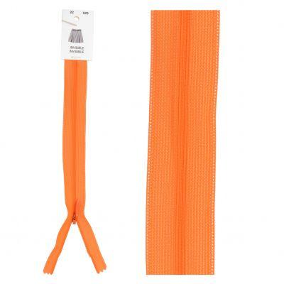Fermeture éclair invisible orange