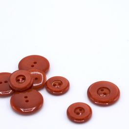 Resin button - orange