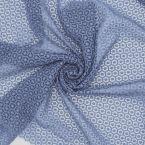 Tissu guipure bleu jean's