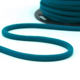 cordon en coton 8mm bleu canard