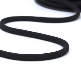cordon en coton 8mm noir