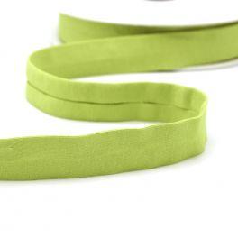 Biais jersey extensible vert anis