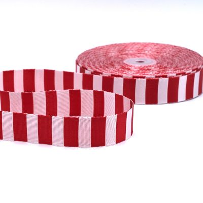 Polyester belt red and off-white
