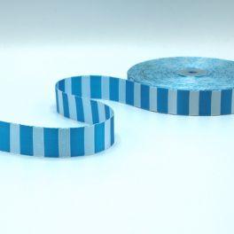 Polyester riem licht blauw