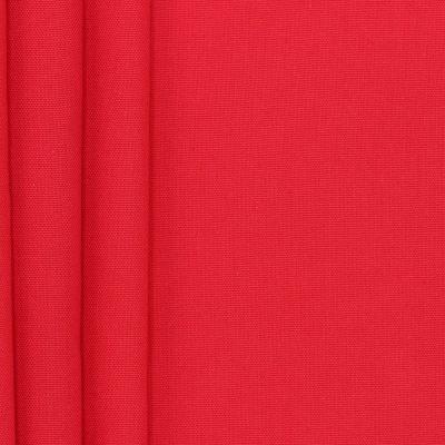 Tissu en coton uni rouge cerise