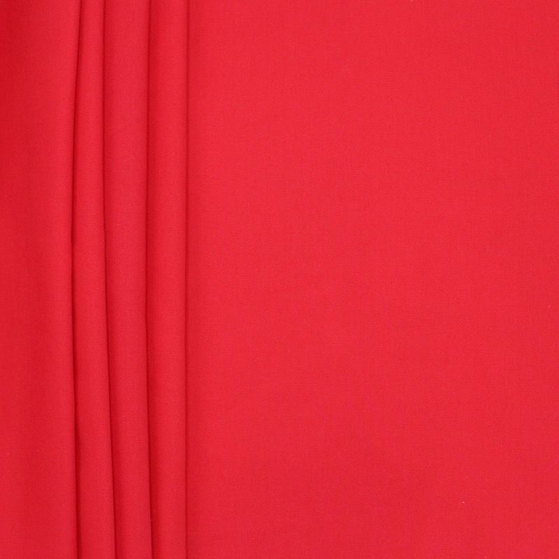 Katoen stof kers rood