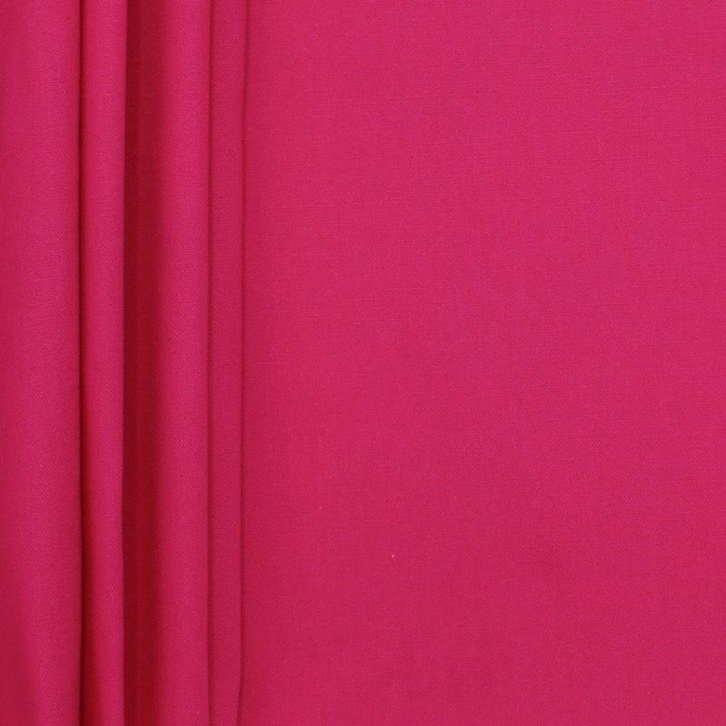 Tissu en coton uni rose