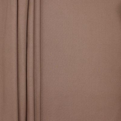 Tissu en coton uni brun écorce