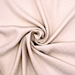 Jacquard polyester double face beige clair