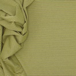 Jersey cotton, polyester and elasthanne fabric with grey and fluo green lines