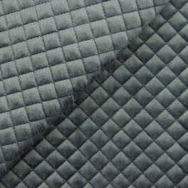 Padded velvet - anthracite