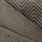 Quilted velvet - taupe