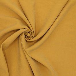 Tissu imitation soie lavée réversible moutarde