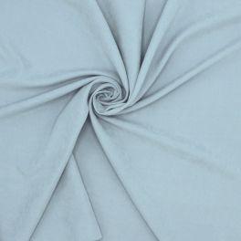 Tissu imitation soie lavée  bleu horizon