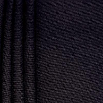 Tissu en coton uni noir