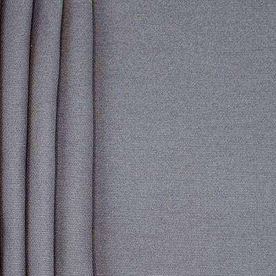 Tissu en coton uni gris