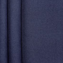 Plain cotton fabric - bleu