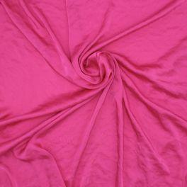 Tissu satin en polyester fushia