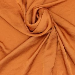 Satin and polyester fabric - rusty