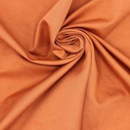 Tissu satin de coton rouille