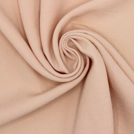 Fabric in polyester type crêpe - salmon